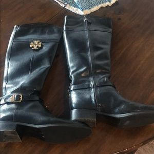 Tory Burch size 7.5 black leather boots